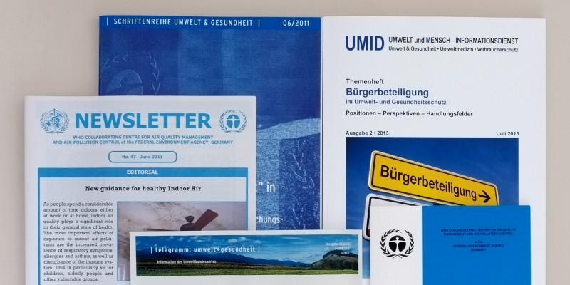 Schriftenreihen und Newsletter zu Umwelt und Gesundheit