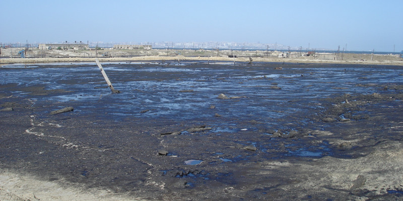 Feral depositions of waste from oil production