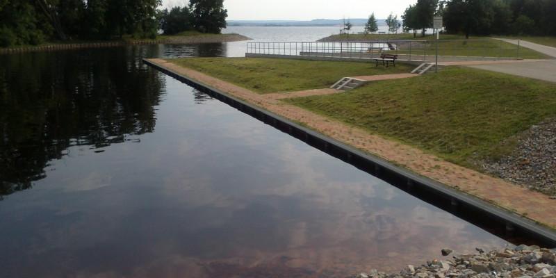 Opencut mining residual lake