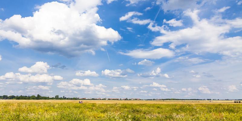 Sky above the Tempelhofer Feld in Berlin