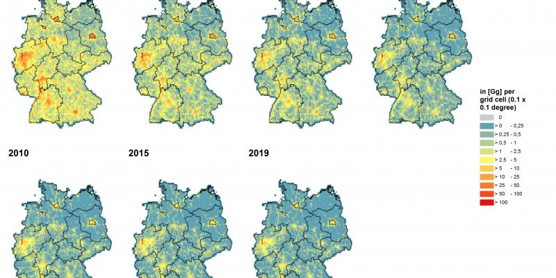 Luftschadstoffbelastung Karte Deutschland CO