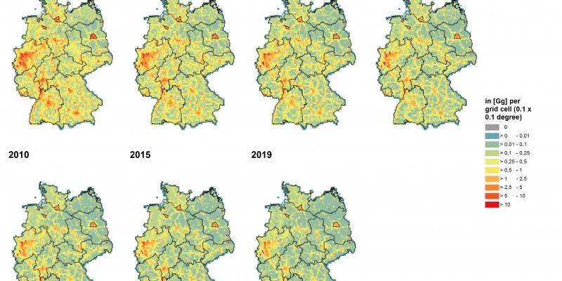 Luftschadstoffbelastung Karte Deutschland NOx