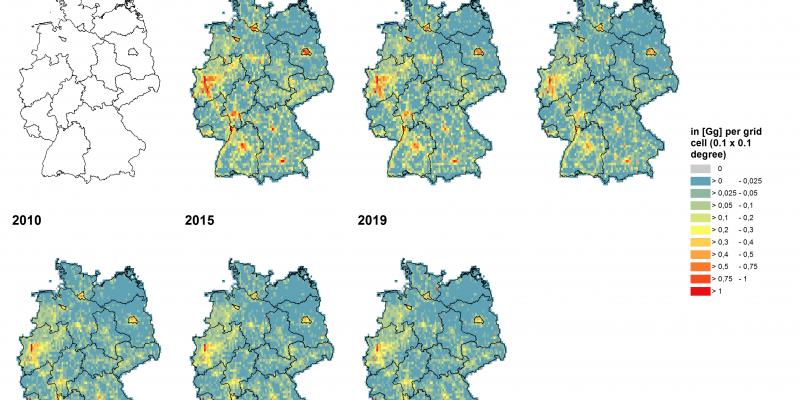 Deutschlandkarte Luftschadtstoffbelastung Staub und Feinstaub (PM10)