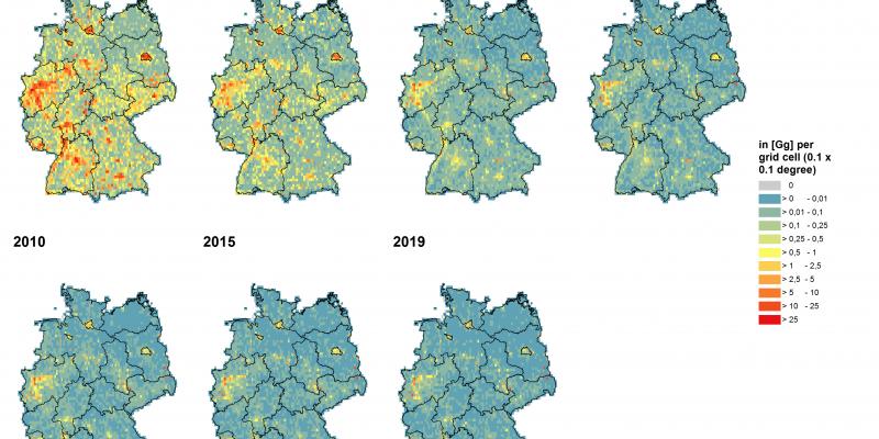 Luftschadstoffbelastung mit Schwefeldioxid in Deutschland.