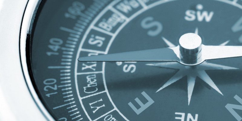 Detailed image of a compass