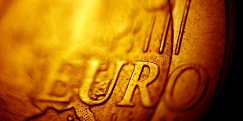 Makroaufnahme eines europäischen Cent-Geldstücks