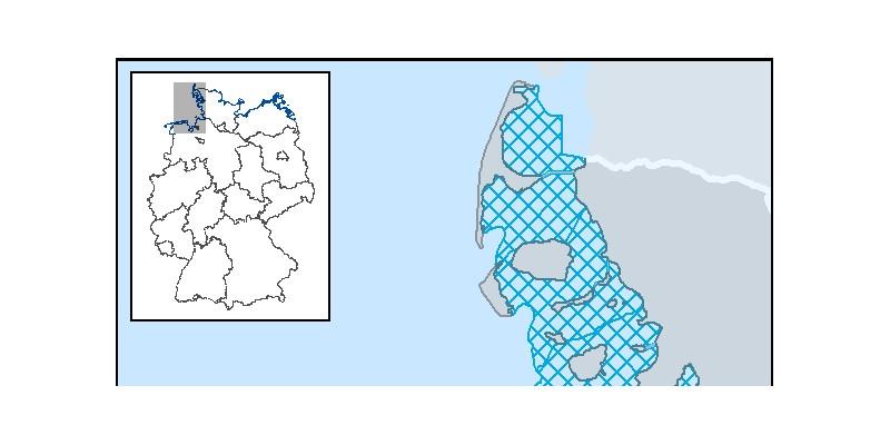 Karte mit den Küstenstreifen an der Nordsee, die im Text benannt sind