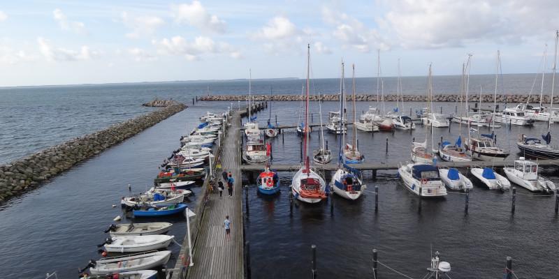 Den Yachthafen von Sassnitz