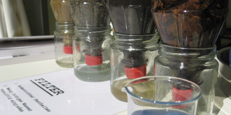 Photo of self-made soil filters.