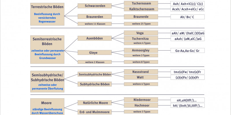 Scheme of soil and its systematics