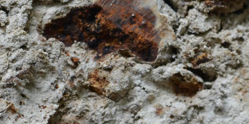 Eisen und Mangananreicherungen in einer Bodenschicht