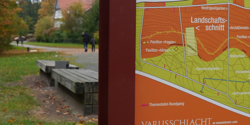 "Photo of site plan of parc ""Kalkriese""."
