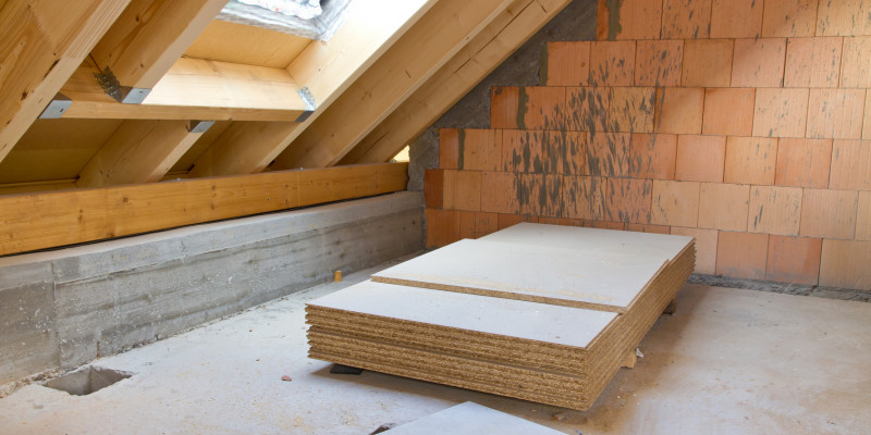 An attic floor will be finished.