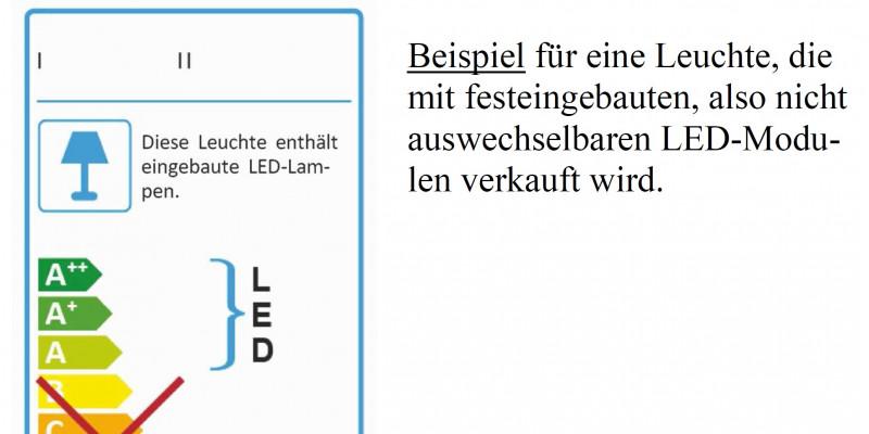 Energieverbrauchskennzeichnung Bei Leuchten III