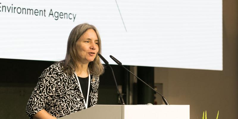 Dr. Bettina Rechenberg from the UBA gives her welcoming speech