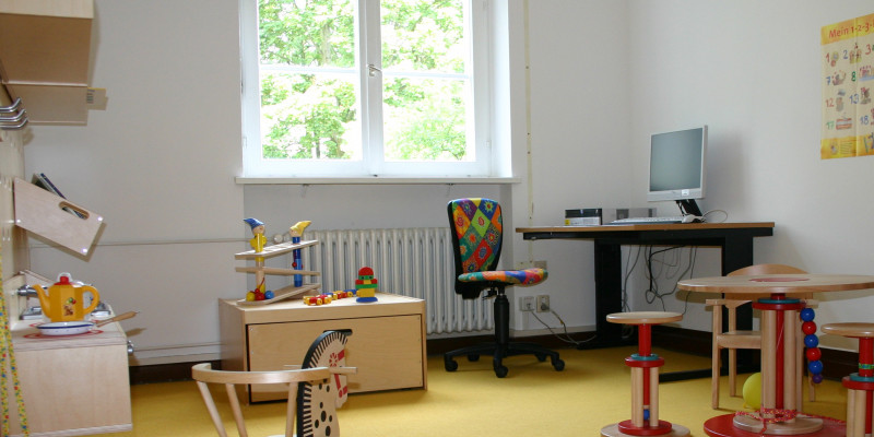 Büro mit Spielsachen