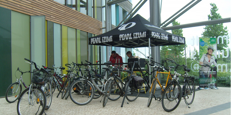 bikes in the UBA office building