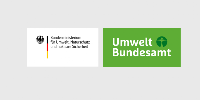 Logos von Bundesministerium für Umwelt, Naturschutz und nukleare Sicherheit (BMU) und Umweltbundesamt (UBA)