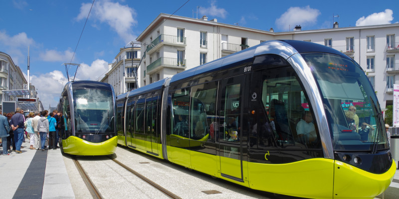 modern tramway in the city