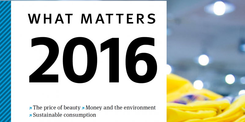 "Cover of the ""What matters 2016"" annual publication"