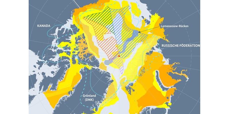Karte über Vermutete Vorkommen fossiler Brennstoffe