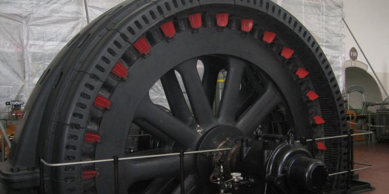 Stromgenerator eines Wasserkraftwerks