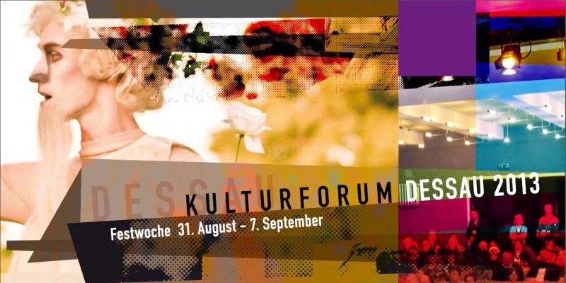 Collage zum Kulturforum Dessau 2013