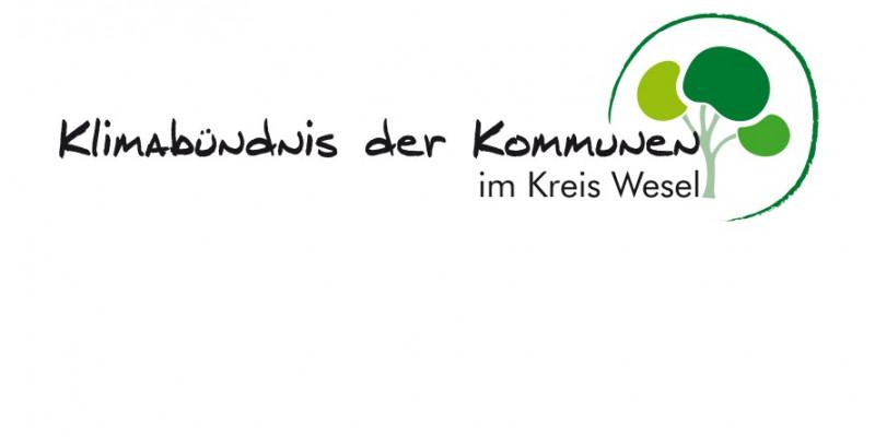 Logo: Klimabündnis der Kommunen im Kreis Wesel