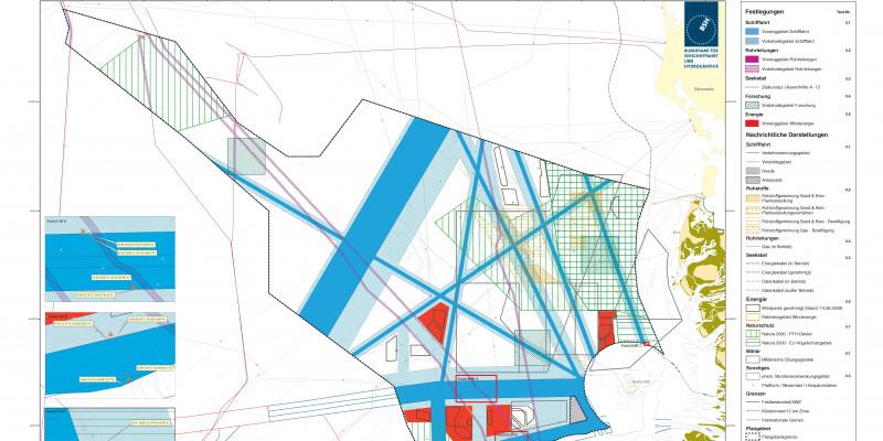 Raumordnungsplan für die deutsche ausschließliche Wirtschaftszone in der Nordsee - Karte