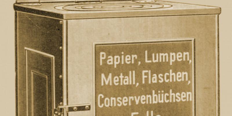 Container für Papier, Lumpen, Metalll und anderen Abfall