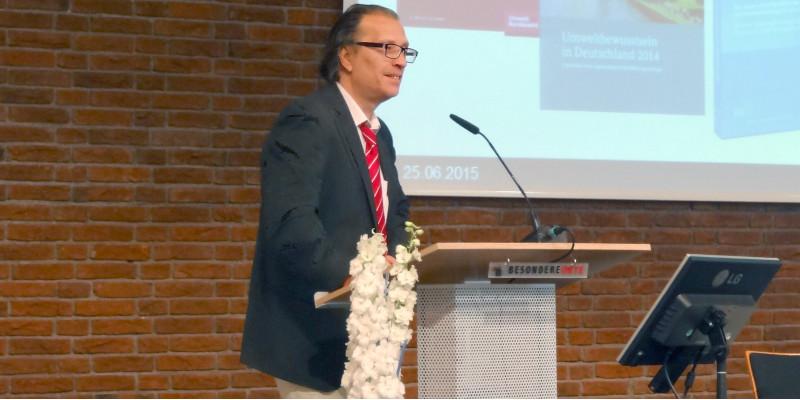 Wider die Verschwendung II - Herr Löwe, UBA, während seiner Rede
