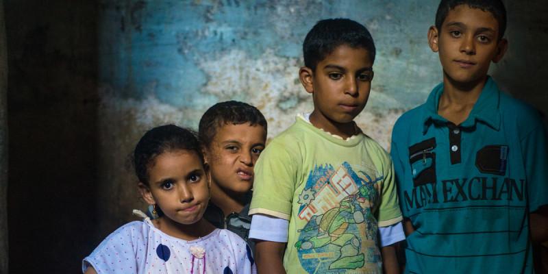 vier Kinder in Ägypten