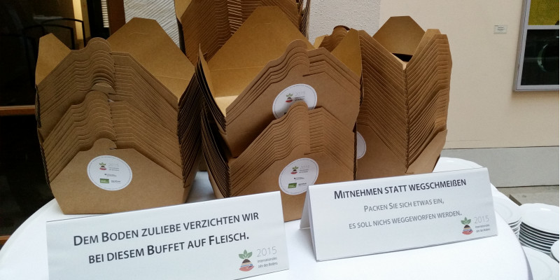 Blick aufs Catering
