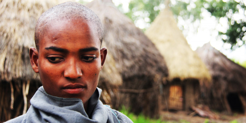 Junger Christ in Äthiopien