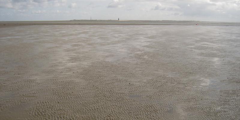Wattenlandschaft bei Wangerooge bei Ebbe