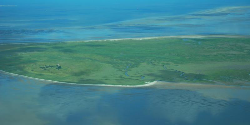 Luftbild der Insel Mellum