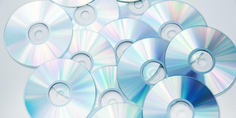 eine Menge an CDs