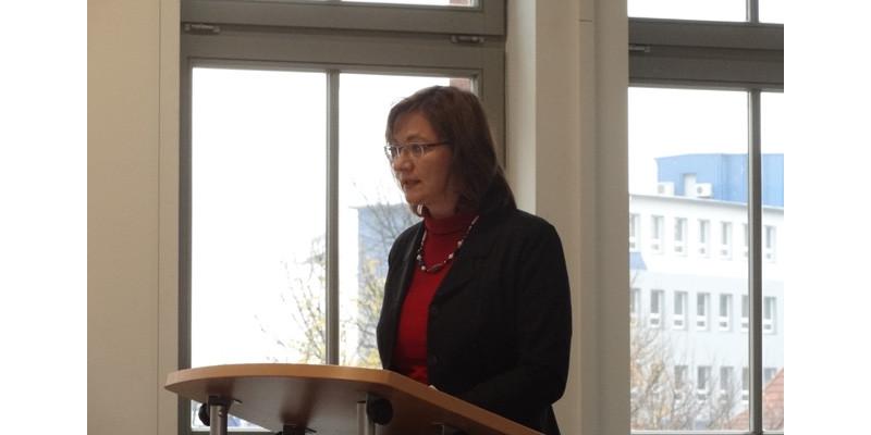 """Veranstaltung """"Lebensmittelabfälle vermeiden – aber wie"""", Vortrag Frau Krause, Umweltbundesamt"""