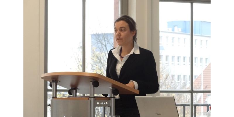 """Veranstaltung """"Lebensmittelabfälle vermeiden – aber wie"""", Vortrag Frau Friedrich, Umweltbundesamt"""