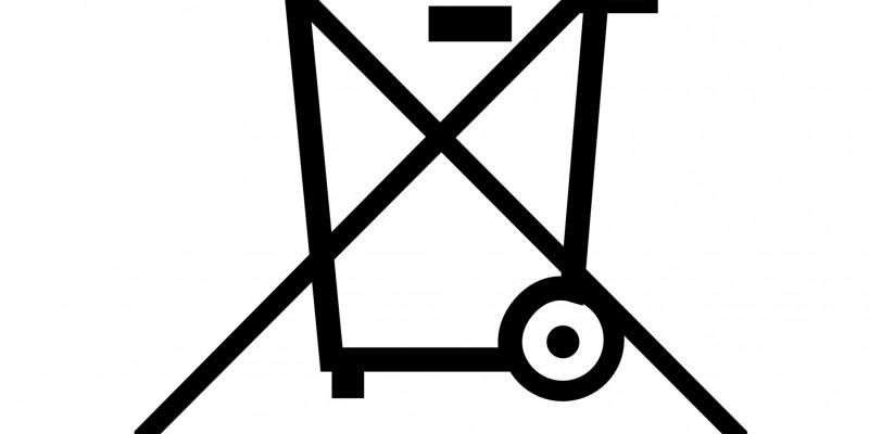 "Crossed bin"" symbol"