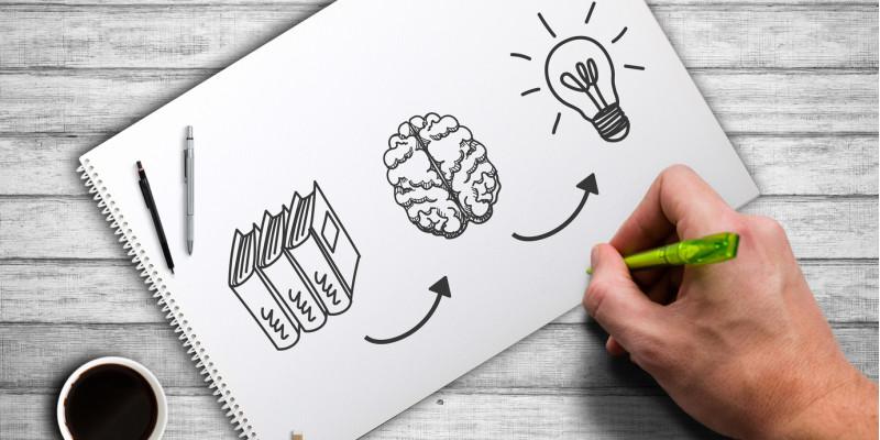 Symbolik: Bücher-Gehirn_Glühlampe