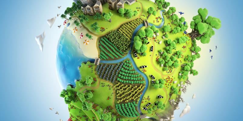Globus-Grüne Erde