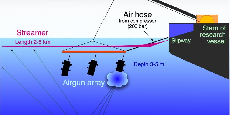 Diagram of scientific use of airguns