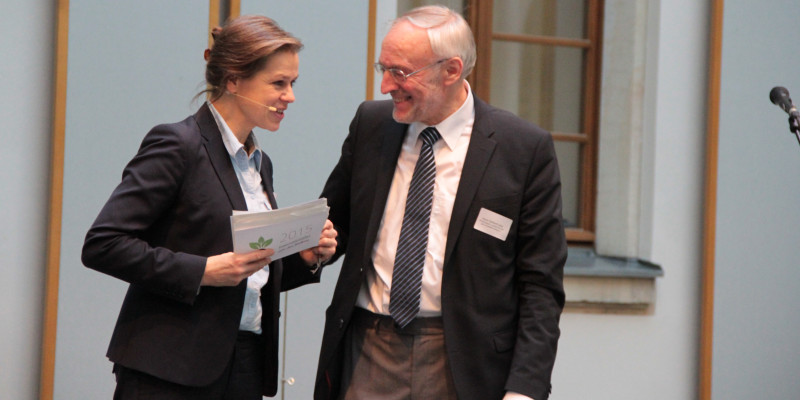 Tanja Busse (Moderatorin) und Prof. Alois Heißenhuber (TU München)