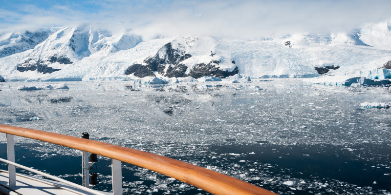 Ship in the Antarctic