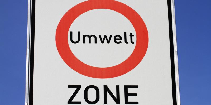 Straßenschild Umweltzone