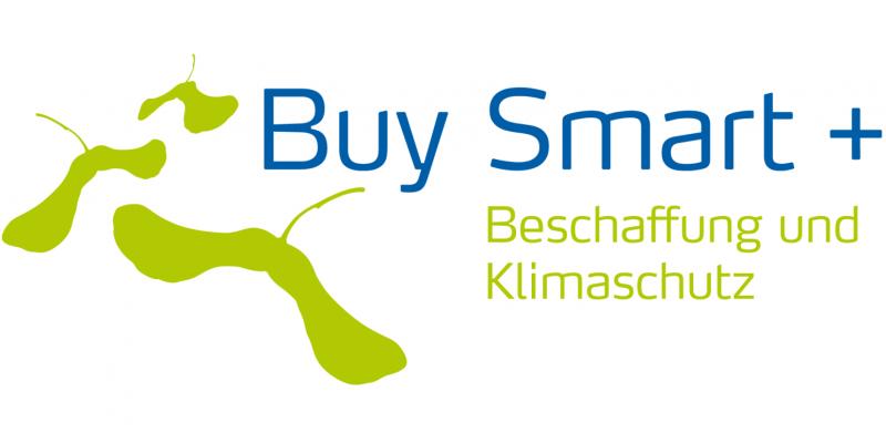 Logo des Projektes Buy smart+ Beschaffung und Klimaschutz