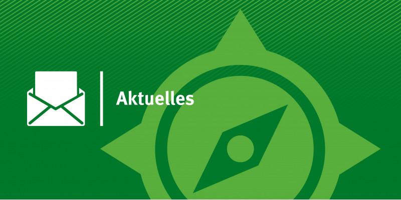 KomPass-Logo mit Briefsymbol und Text Aktuelles
