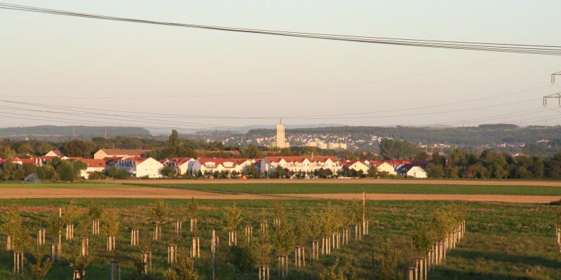 Grüne Flächen im Stadtumland.