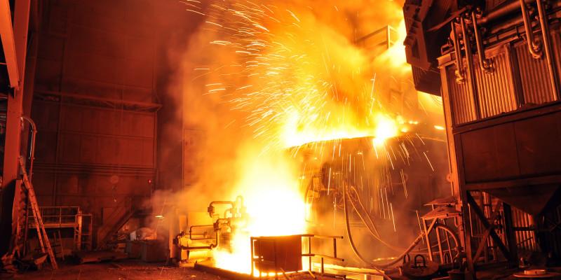 Hochofen im Stahlwerk